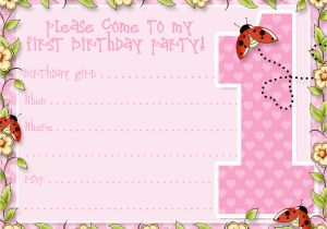 First Birthday Invitation Email Printable 1st Party Announcements