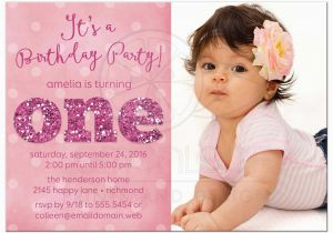 First Birthday Invitation Quotes For Girl 1st And Baptism Invitations