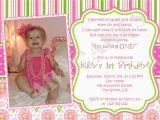 First Birthday Invitation Sayings 1st Birthday Girl themes 1st Birthday Invitation Photo