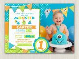 First Birthday Invitations for Boys First Birthday Invitation Boys Monster 1st Birthday Boys