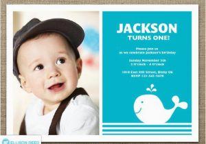 First Birthday Invitations For Boys Whale Invitation 1st Nautical Boy