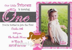 First Birthday Invitations Girl Baby Girl 1st Birthday Invitation Best Party Ideas
