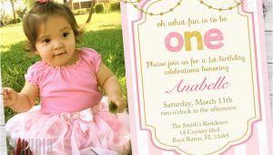 First Birthday Invitations Girl Girl First Birthday Invitations 1st Birthday Party