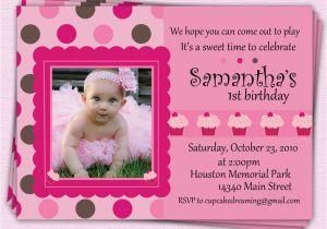 First Birthday Invitations Girl Girl First Birthday Invitations