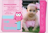 First Birthday Invitations Girl Owl 1st Birthday Invitations Ideas Bagvania Free