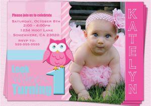 First Birthday Invitations Girl Owl 1st Birthday Invitations Ideas Bagvania Free