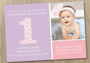 First Birthday Invitations Girl Quotes for Girls 1st Birthday Quotesgram
