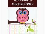 First Birthday Invitations Owl theme 1st Birthday Owl theme Party Invitations Zazzle Com