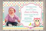 First Birthday Invitations Owl theme Free Printable Owl Invitations for First Birthday Template