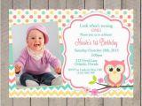 First Birthday Invitations Owl theme Free Printable Owl Invitations for First Birthday Template