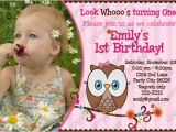 First Birthday Invitations Owl theme Look whoos Turning One Invitation Owl Look by