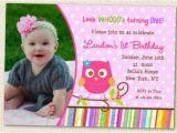 First Birthday Invitations Owl theme Owl Invitations