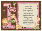 First Birthday Invite Message First Birthday Invitation Wording and 1st Birthday