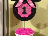 First Birthday Minnie Mouse Decorations Minnie Mouse 1st Birthday Centerpiece Kids Pinterest