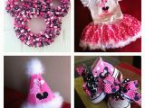 First Birthday Minnie Mouse Decorations Minnie Mouse 1st Birthday Party Ideas Pinterest