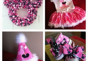 First Birthday Minnie Mouse Decorations 1st Party Ideas Pinterest