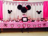 First Birthday Minnie Mouse Decorations Minnie Mouse 1st Birthday Party Project Nursery