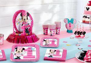 First Birthday Minnie Mouse Decorations Minnie Mouse 1st Birthday Party Supplies Party City