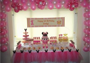 First Birthday Minnie Mouse Decorations Minnie Mouse Birthday Party Ideas Photo 1 Of 15 Catch