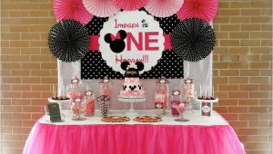 First Birthday Minnie Mouse Decorations Minnie Mouse First Birthday Party Little Wish Parties