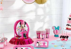 First Birthday Minnie Mouse Decorations Minnie Mouse First Birthday Partyware Disney Baby
