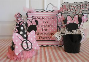 First Birthday Minnie Mouse Decorations Minnie Mouse Polka Dot 1st Birthday Party by asweetcelebration