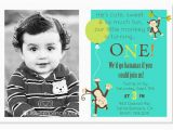 First Birthday Monkey Invitations 1st Birthday Invitations Ideas for Boys Bagvania Free