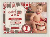 First Birthday Monkey Invitations First Birthday Invitation sock Monkey Invite Boys Red