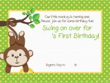 First Birthday Monkey Invitations Free Printable 1st Monkey Birthday Invitation Free