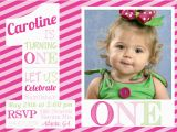 First Birthday Photo Invitations Girl 1st Birthday Invitations Girl Free Template Girl 1st