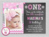 First Birthday Photo Invitations Girl Birthday Invitation Cards Baby Girl First Birthday