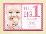 First Birthday Photo Invitations Girl First Birthday Baby Girl Invitation Diy Photo Printable