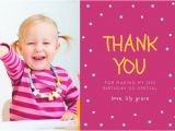 First Birthday Photo Thank You Cards 10 Birthday Thank You Cards Design Templates Free