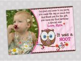 First Birthday Photo Thank You Cards Items Similar to Look whoos Turning One Thank You Card