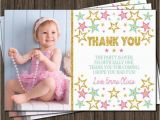 First Birthday Photo Thank You Cards Twinkle Twinkle Little Star Thank You Card First