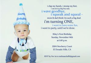 First Birthday Quotes For Invitations 9 Best H 1st Images On Pinterest Party
