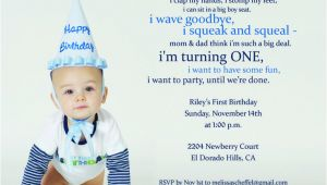 First Birthday Rhymes For Invitations