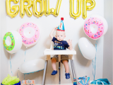 First Year Birthday Decorations Donut Grow Up 1st Birthday Party Friday We 39 Re In Love