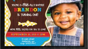Fishing 1st Birthday Invitations Fishing Birthday Invitation First Birthday by Abbyreesedesign