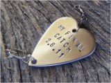 Fishing Birthday Gifts for Him Boyfriend Gift for Men Custom Fishing Lure Handstamped