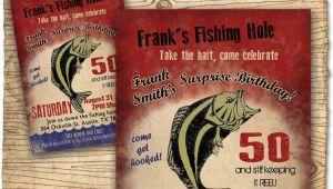 Fishing Birthday Invitations Free Fishing Birthday Party Invitation Invite 30th 40th 50th