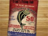 Fishing Birthday Invitations Free Fishing Birthday Party Invitation Invite 30th 40th