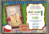 Fishing First Birthday Invitations 1000 Images About Fish themed Birthday Party On Pinterest