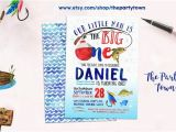 Fishing First Birthday Invitations Big One Fishing Invitation Fishing First Birthday Invite
