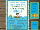 Fishing First Birthday Invitations Boy 39 S Birthday Fishing Invite Fishing Invitation Fishing