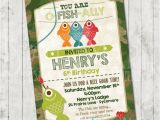 Fishing First Birthday Invitations Boys Fishing Birthday Invitation