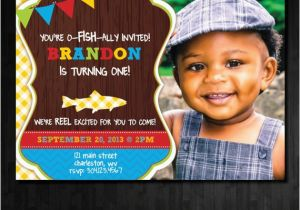 Fishing First Birthday Invitations Fishing Birthday Invitation First Birthday by Abbyreesedesign