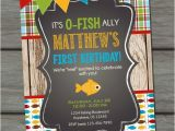 Fishing First Birthday Invitations Fishing Birthday Invitation Fishing Birthday Party Fish