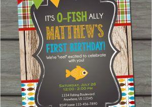 Fishing First Birthday Invitations Fishing Birthday Invitation Fishing Birthday Party Fish
