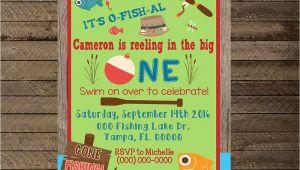 Fishing First Birthday Invitations Fishing Invite Fishing Invitation First Birthday Fishing